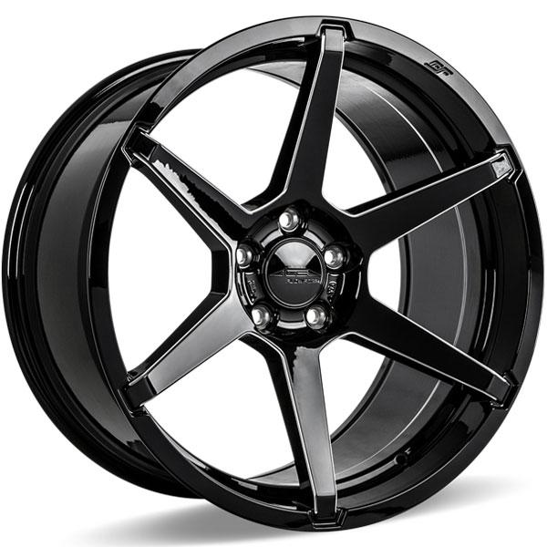 Ace Alloy AFF06 V006D Gloss Black Milled