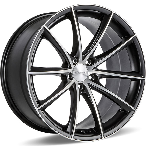 Ace Alloy Convex D704 Matte Black with Machined Face