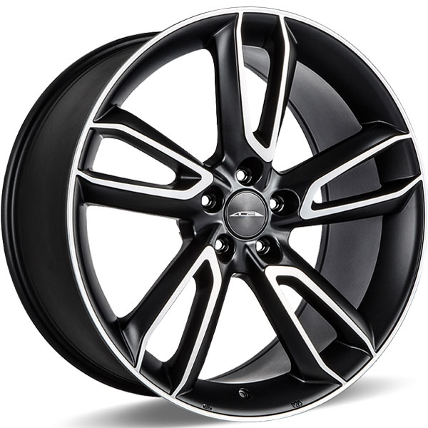Ace Alloy Scorpio C902 Matte Black with Machined Face