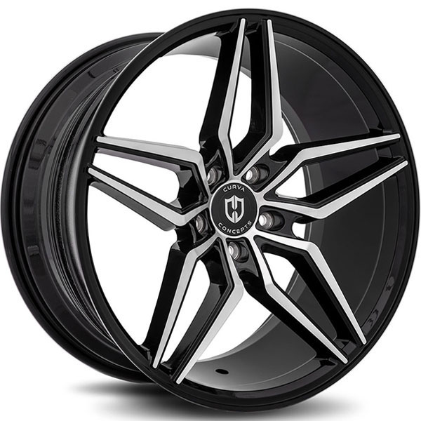 Curva Concepts C25 Black with Machined Face