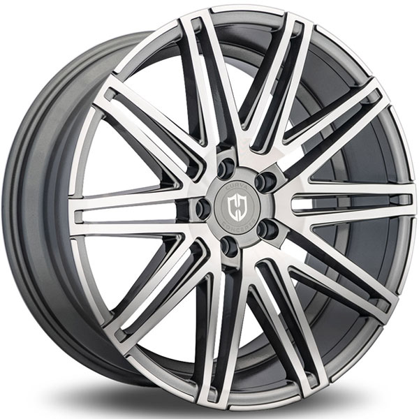Curva Concepts C48 Gunmetal with Machined Face