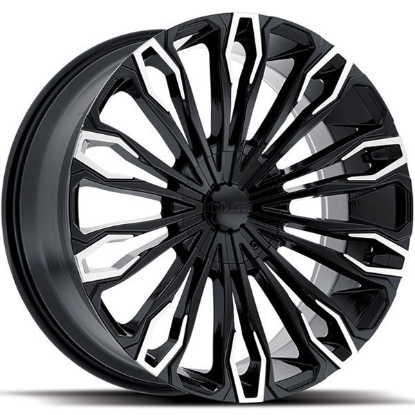 Dolce DC36 Gloss Black with Machined Spokes