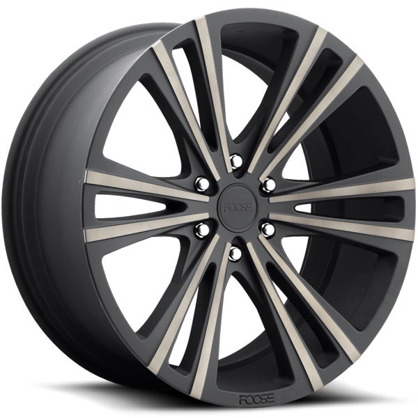 Foose Wedge F160 Black with Machined Dark Tint