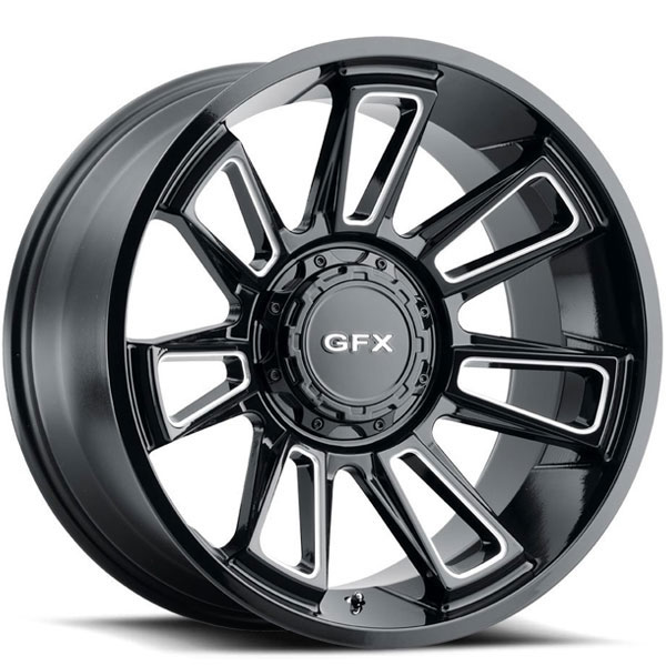 G-FX TR21 Gloss Black with Milled Spokes