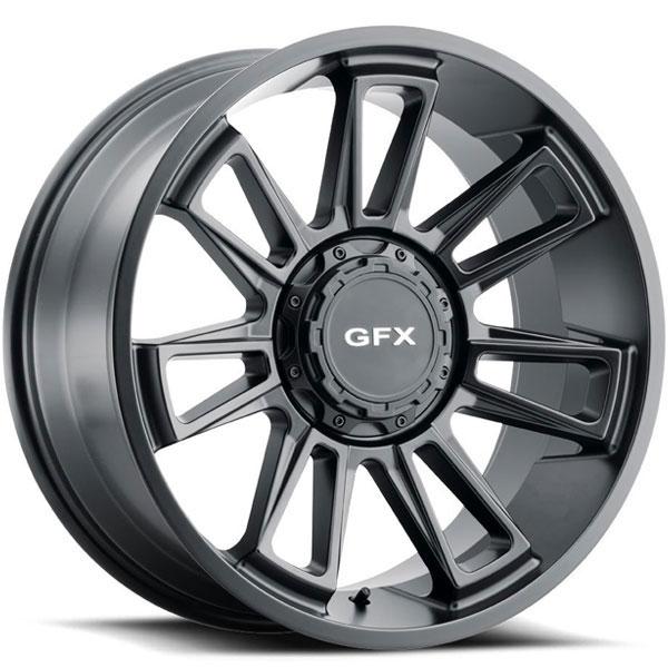 G-FX TR21 Matte Black 8 Lug