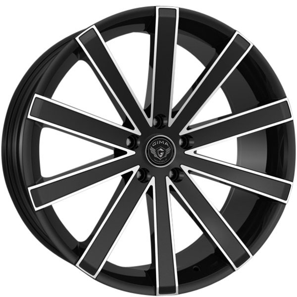 Gima Paradox Black wtih Machined Edges 5 Lug