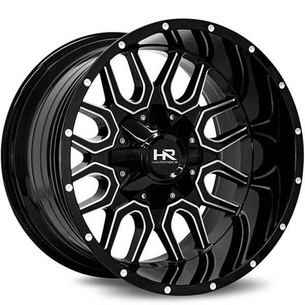Hardrock Offroad H709 Commander Gloss Black with Milled Spokes