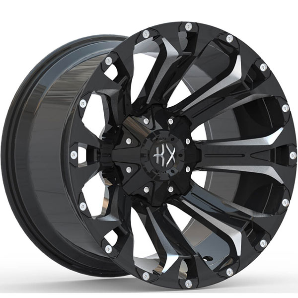 KX Offroad KX11 Gloss Black with Milled Spokes