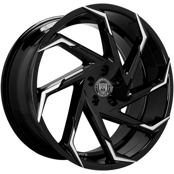 Lexani Cyclone Gloss Black with Machined Tips