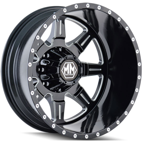 Mayhem Monstir Dually Black with Milled Spokes Rear