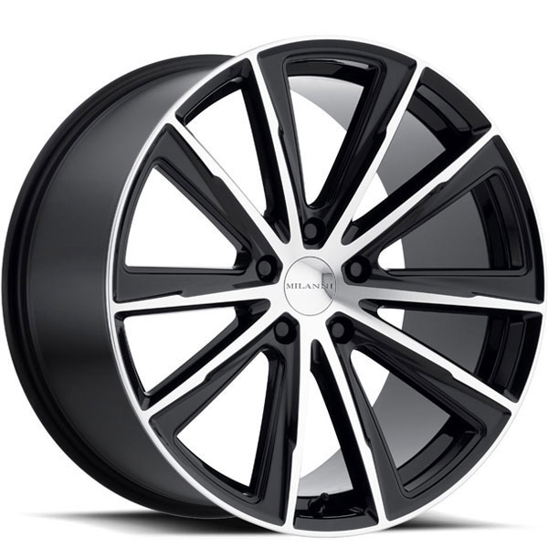 Milanni 471 Splinter Gloss Black with Machined Face