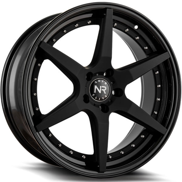 Noir Elite NR102 Matte Black with Gloss Black Lip and Chrome Rivets