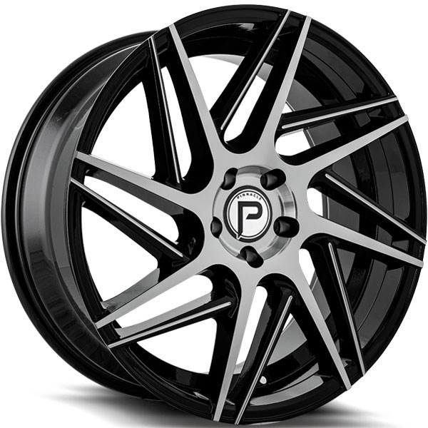 Pinnacle P104 Swerve Gloss Black with Machined Face and Milled Spokes