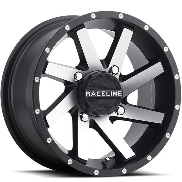 Raceline A82M Twist UTV Satin Black with Machined Face