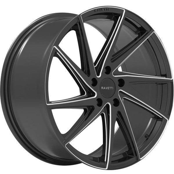 Ravetti M10 Black with Milled Spokes