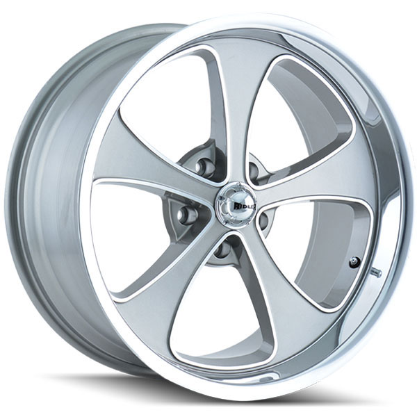 Ridler 645 Gray with Machined Face and Lip