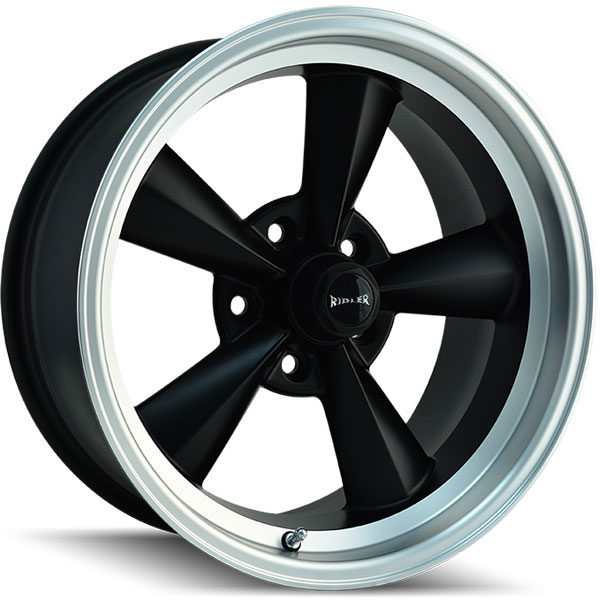 Ridler 675 Matte Black with Machined Lip