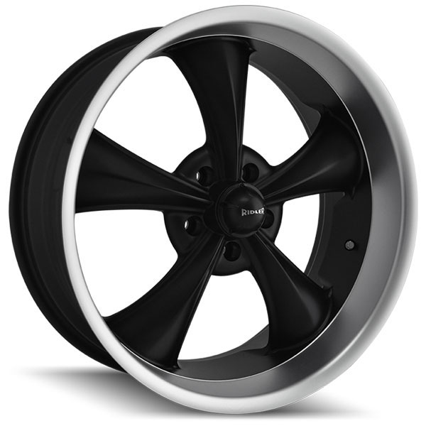 Ridler 695 Black with Machined Lip