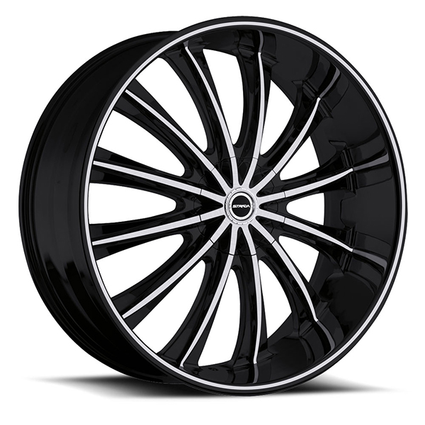 Strada Corona Black with Machined Face and Stripe