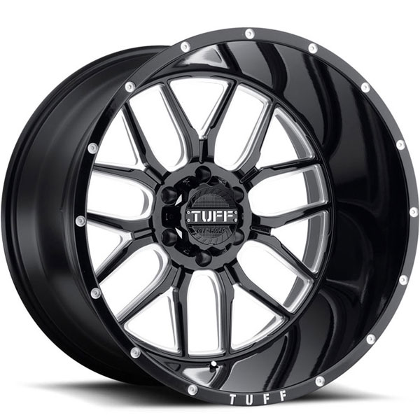 Tuff T23 Gloss Black with Milled Spokes