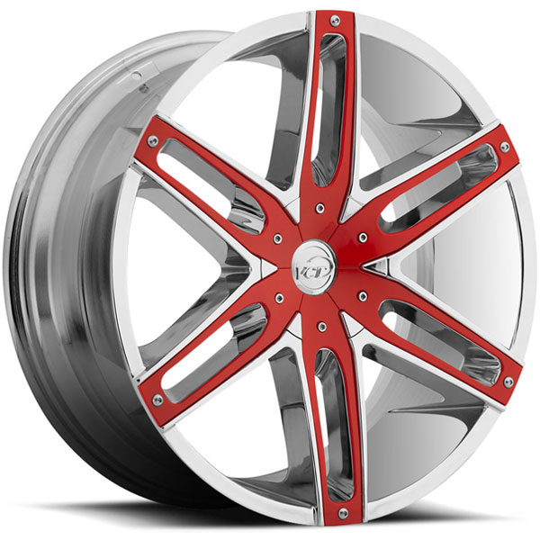 VCT V8 Chrome with Red Inserts