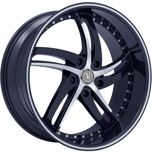 Velocity VW 25 Black with Machined Face