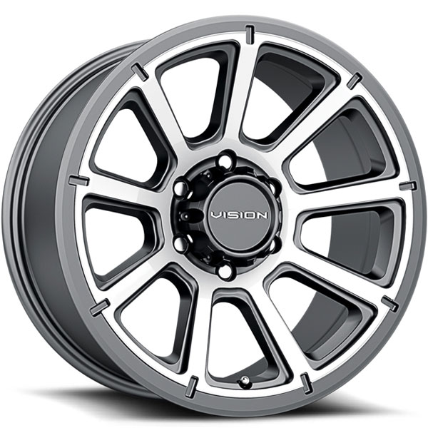 Vision 353 Turbine Gunmetal with Machined Face 6 Lug