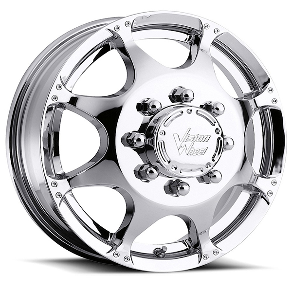 Vision 715 Crazy Eightz Duallie Chrome Front