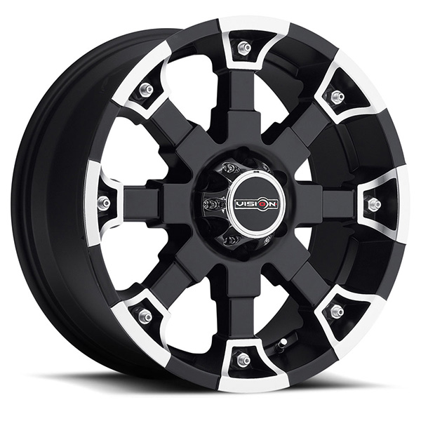 Vision Off-Road 392 Brutal Matte Black with Machined Face