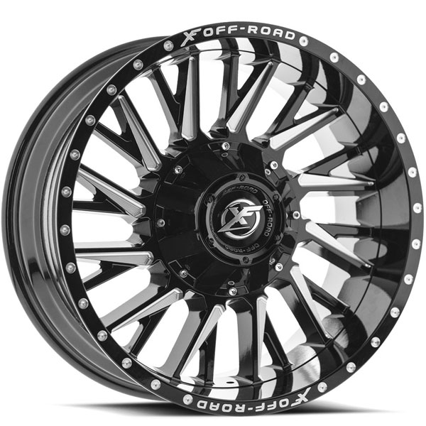 XF Off-Road XF-226 Gloss Black with Milled Spokes
